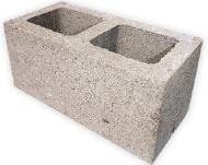 Блок стеновой с пустотами (390х190х188 мм)